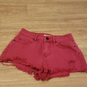 Bullhead high wasted red shorts